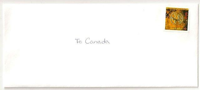 To Canada Envelope