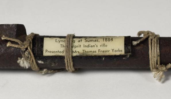 Louis Sam's rifle barrel