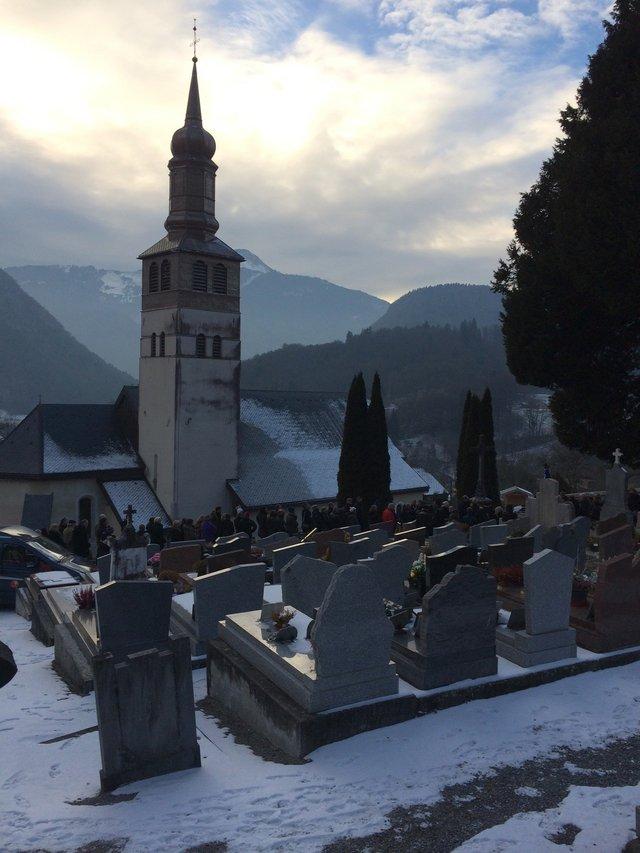 John Berger's funeral, Mieussey, France